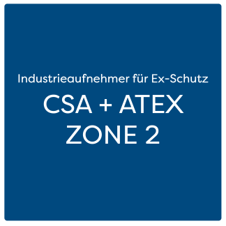Industrieaufnehmer für Ex-Schutz CSA + ATEX ZONE 2