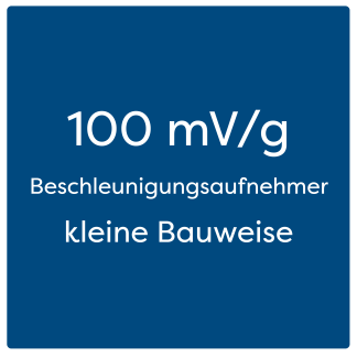 100 mV/g Beschleunigungsaufnehmer kleine Bauweise