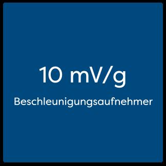 10 mV/g Beschleunigungsaufnehmer