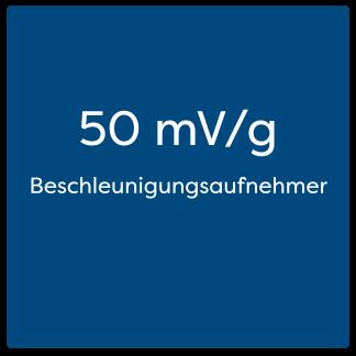 50 mV/g Beschleunigungsaufnehmer