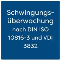 Schwingungsüberwachung mit 2 Messkanälen nach DIN ISO 10816-3